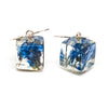 Resin Earrings with Forget Me Nots