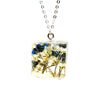 Resin Necklace with Forget Me Nots and Baby's Breath