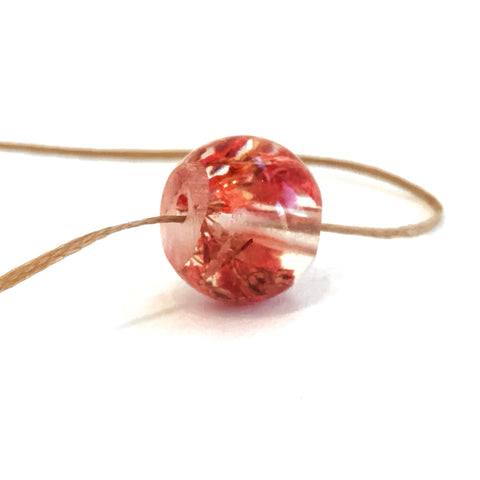 Red Baby's Breath Bead Necklace