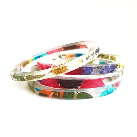 Stackable Skinny Bangle with Everything