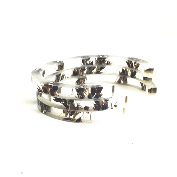 Stackable Skinny Cuff with Black Sorghum