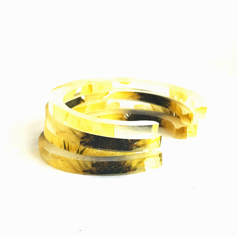 Stackable Skinny Cuff with Sunflowers