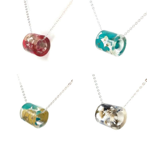 Jewelry Subscription: Seasonal Botanical Resin Necklaces
