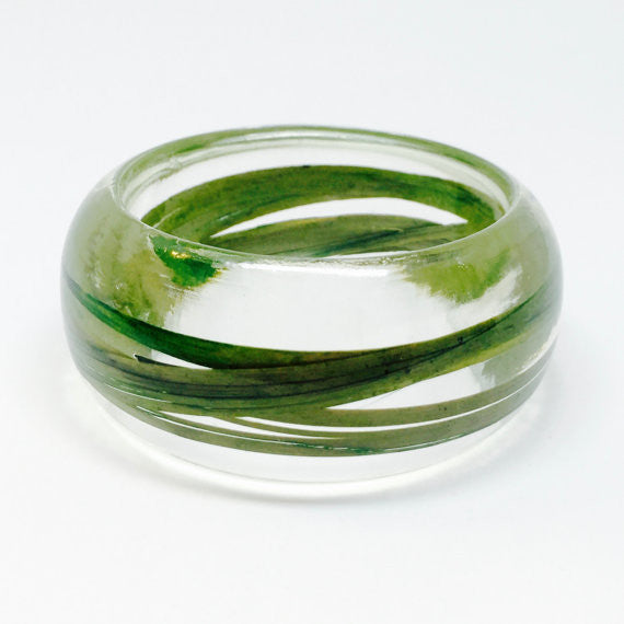 Seconds Sale - Resin Bracelet with Wild Grass