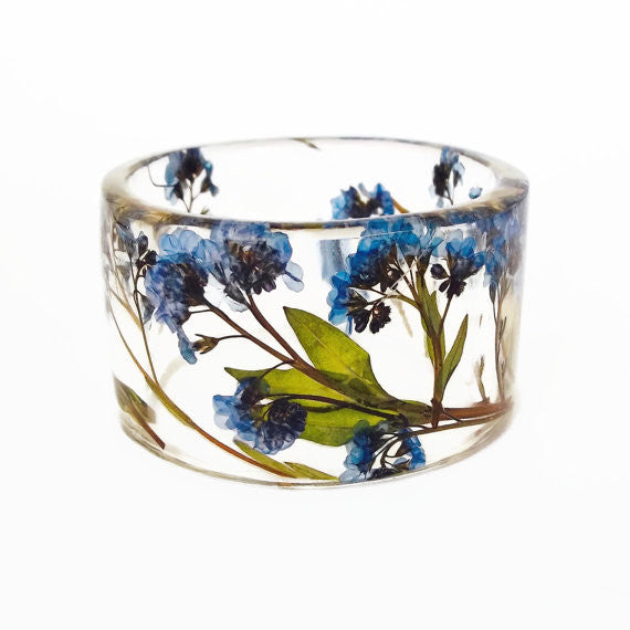 Forget Me Nots Resin Bracelet