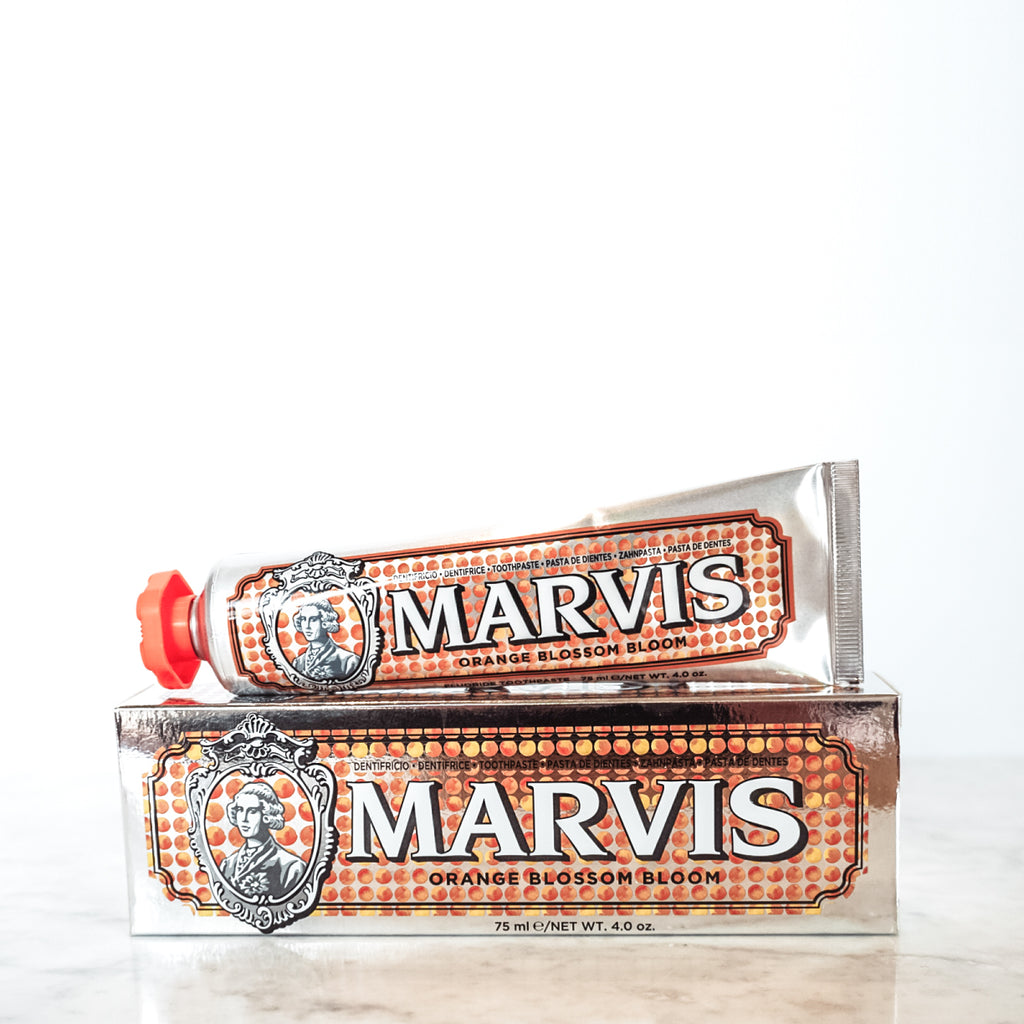 Marvis Orange Blossom Toothpaste 75ml Limited Edition Women's Facial Care Women travel toothpastes toothpaste toothe tooth decay tooth teeth care teeth tartar quality prevent plaque paste Mouthcare mouth care Mouth minty mint Men's Facial Care Men mavis Marvis Toothpaste Marvis Made in Italy Luxury Mouthcare licorice italy italian fresh florence facial care face care face drugstorelove drugstore's drugstore drug-store dental care decay cult artisanal mint peppermint orange
