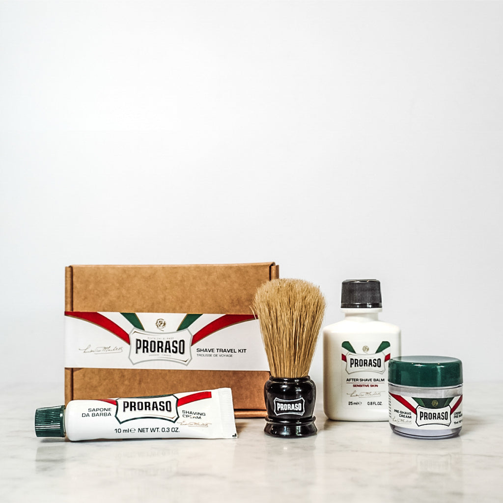 Proraso Mini Travel Shaving Kit Italian Men's skincare beard care beards shaving
