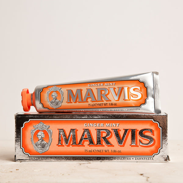 Marvis Ginger Mint Toothpaste 75ml Women's Facial Care Women travel toothpaste tooth decay tooth teeth care teeth tartar spicy spice quality prevent plaque paste Mouthcare mouth care mouth mint Men's Facial Care Men mavis Marvis Toothpaste marvis made in italy Luxury Mouthcare italy italian ginger-mint ginger fresh florence facial care face care face drugstorelove drugstore's drugstore drug-store decay cult artisanal