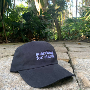 """Searching For Clarity"" Dad Hat - Black"