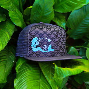 Grey Mermaid Scales Snapback
