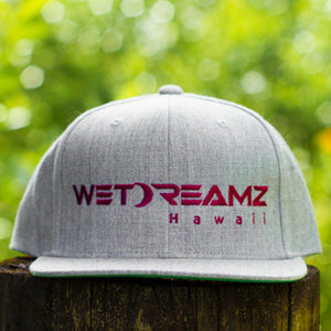 Wet Dreamz Hawaii Snapback - Heather Grey/Maroon