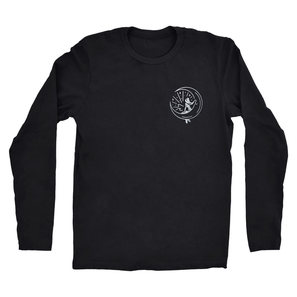 "Long Sleeve Silver ""Mahina Mermaid"" Tee"