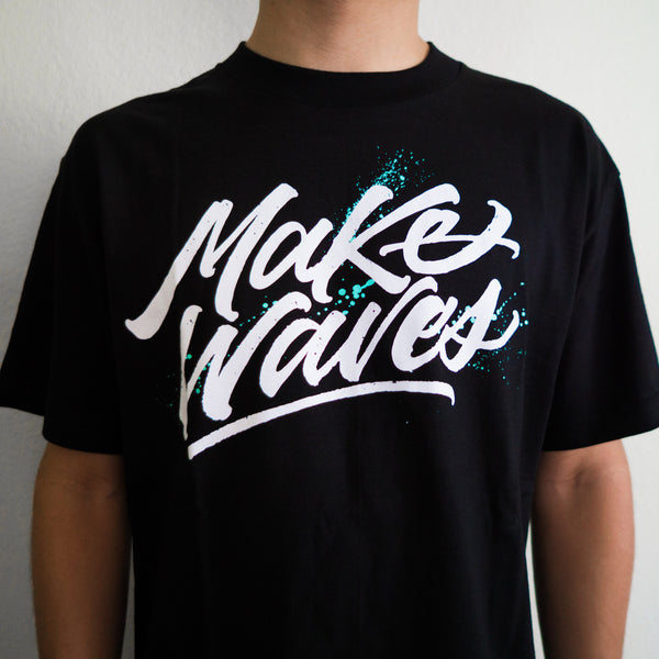 """Make Waves"" Black Tee"