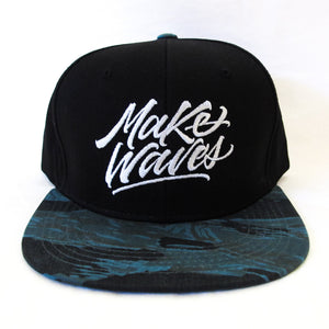 """Make Waves"" Blue Tiger Camo Snapback"