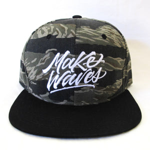 """Make Waves"" Tiger Camo Snapback"