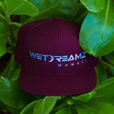 Wet Dreamz Hawaii Snapback - Maroon/Baby Blue