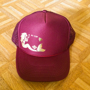 Mermaid Trucker - Burgundy
