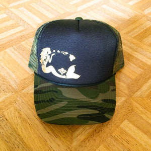 """PRE-ORDER"" Mermaid Trucker - Black/Camo"