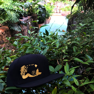 Mermaid Snapback - Black/Gold