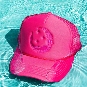 "Ponytail ""Moon Mermaid"" Trucker - Pink/Pink"
