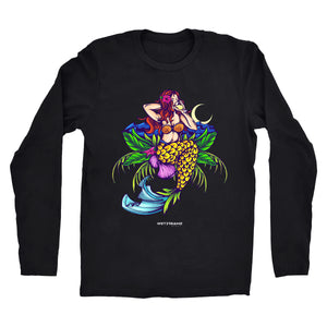 "Long Sleeve ""Pina Colada Mermaid"" Tee"