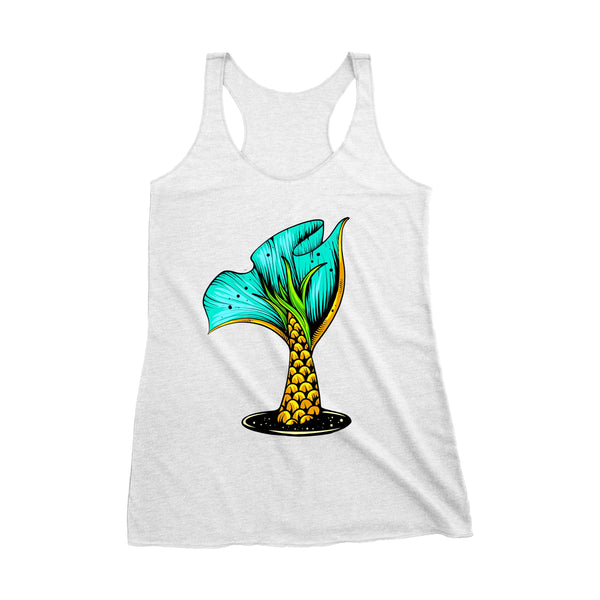 "Womens ""Pineapple Scale Mermaid Tail"" Racerback Tank"