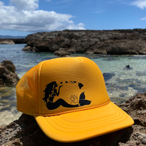 Mermaid Trucker - Pineapple Gold