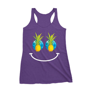 "Womens ""Pineapple Pupils"" Racerback Tank"