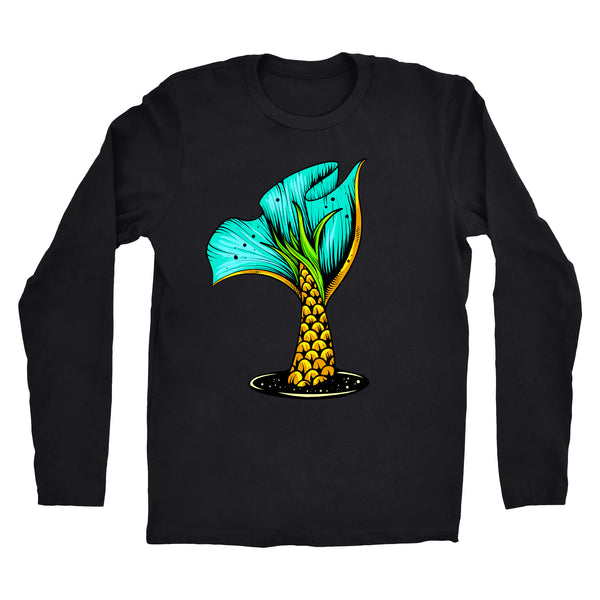 "Long Sleeve ""Pineapple Scale Mermaid Tail"" Tee"