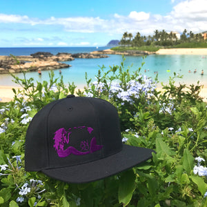 Mermaid Snapback - Black/Purple
