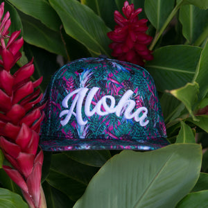 "Pineapple/Red Ginger ""Aloha"" Snapback"