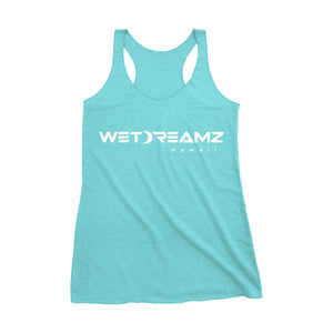 Womens Wet Dreamz Logo Tank - Aqua