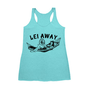 """Lei Away Plan"" Racerback Tank"