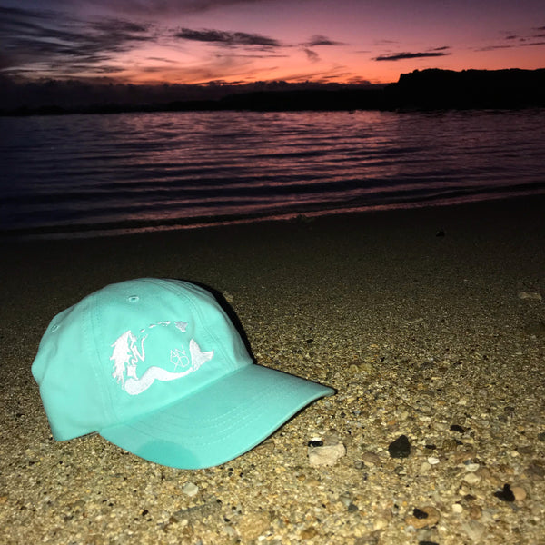 Mermaid Dad Hat - Aqua