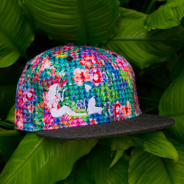 Triangle Floral Mermaid Snapback
