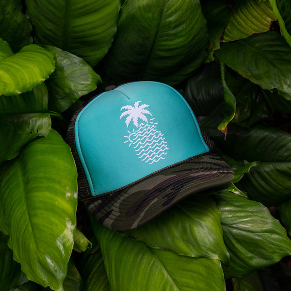 """Wavy Pineapple"" Trucker"