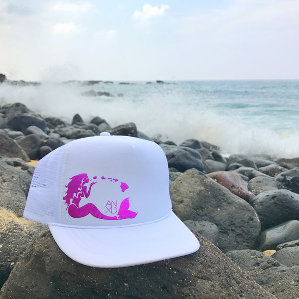 Mermaid Trucker - White