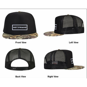 "Black ""Leaf Camo"" Trucker"