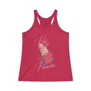 """Pray for Paradise V2"" Racerback Tank"
