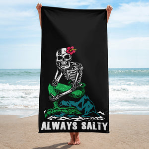 """Always Salty"" Beach Towel"