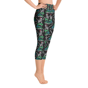 """Always Salty"" Yoga Capri Leggings"