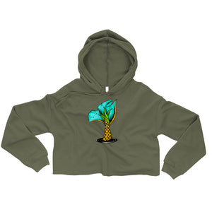 """Pineapple Scale Mermaid Tail"" Crop Hoodie"