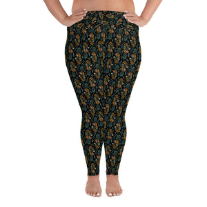 """Pina Skullada"" Plus Size Leggings"