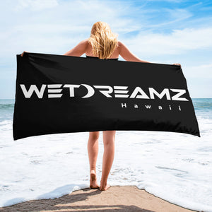 "Black ""Wet Dreamz Logo"" Towel"