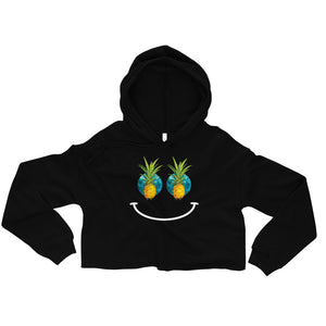 """Pineapple Pupils"" Crop Hoodie"