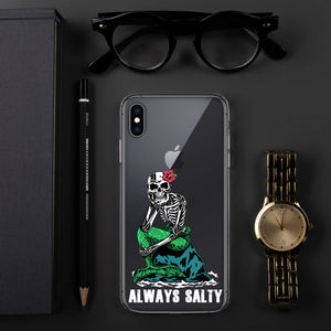 "Clear ""Always Salty"" iPhone Case"