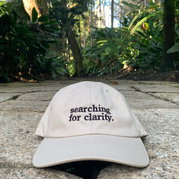 """Searching For Clarity"" Dad Hat - Sand"