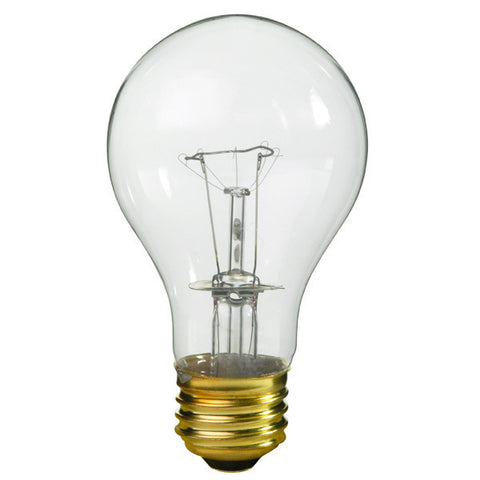Incandescent Bulb 100W - A19 - Clear - Pack of 2