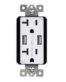TU22048A 4.8A High Speed USB Charger Receptacle 20A
