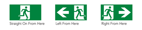 Exit Pictogram Replacement Part